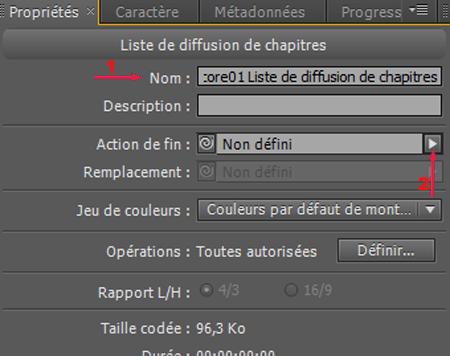 Adobe encore liste de diffusion de chapitres for Liste de diffusion